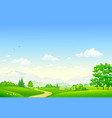 summer country park vector image