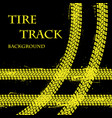 tire tracks with text vector image vector image