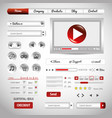website design template design vector image