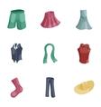 Woman wardrobe icons set cartoon style vector image vector image