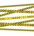 yellow ribbons lockdown coronavirus vector image vector image