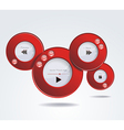 Light Web Elements Buttons Switchers Player Audio vector image