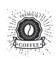 premium coffee ribbon coffee bean background vector image