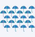 a umbrellas background vector image