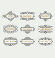 art deco labels frames vintage luxury cafe vector image vector image