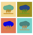 assembly flat icons wheat cloud vector image vector image