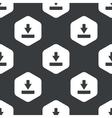 Black hexagon download pattern vector image vector image