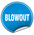 blowout round blue sticker isolated on white vector image vector image