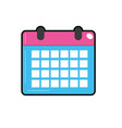 Calendar to organizar important events vector image