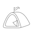 camping tent isolated icon vector image vector image