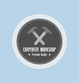 Carpenter Label vector image vector image