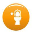 ceramic toilet icon orange vector image