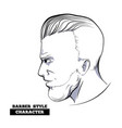 character profile slick vector image