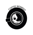 coffee moment black vector image vector image