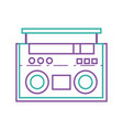 color line radio object technology to listen music vector image vector image