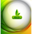 colorful eco background vector image
