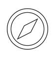 compass black color icon vector image vector image