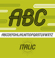 cool capital alphabet letters abc collection vector image vector image
