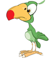 Cute Green parrot Cartoon vector image vector image