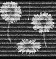 daisies striped seamless pattern denim vector image vector image