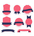 decorative labels and ribbons pack vector image