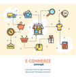 e-commerce concept banner card vector image