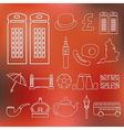 england outline icons vector image