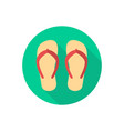 flip flops icon sign symbol vector image vector image