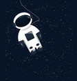 funny cartoon astronaut in outer space vector image