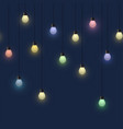glowing colorful bulb garland decorative light vector image vector image