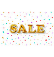 gold sale balloons background for store banners vector image