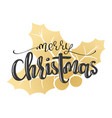 hand written lettering merry christmas vector image vector image