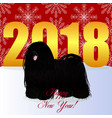 happy new year card with puli vector image vector image