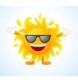 Happy sunny character in sunglasses vector image vector image
