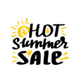 hot summer sale lettering vector image vector image