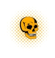 Human skull icon comics style vector image vector image