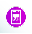 icon dishwasher dishe washer kitchen clean vector image vector image