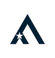 letter a star icon logo vector image vector image