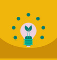 light save planet on ecology style lamp with leaf vector image vector image
