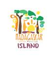 madagaskar island logo template original design vector image vector image