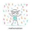 mathematician is the rain of numbers vector image vector image