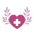 medical heart branch nature isolated icon style vector image vector image