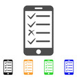mobile todo list flat icon vector image vector image