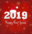 new years card with red santa hat vector image vector image