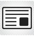 newspaper flat icon news symbol logo business vector image vector image