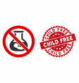 no extracorporeal children icon with grunge child vector image vector image