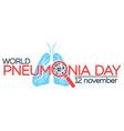 pneumonia vector image vector image