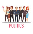 politics election people cartoon composition vector image vector image