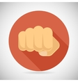 Punch Fist Hand Palm Icon Social Power Courage vector image