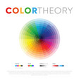 round template for color theory vector image